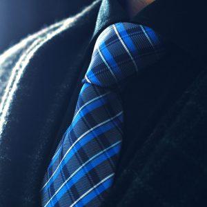 Modrá, Čierna Kockovaná Kravata