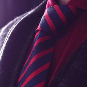 Hodvábna modro červená pásikavá kravata