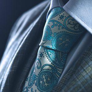 Tyrkysová kravata, paisley hodvábna