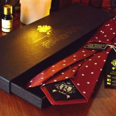 Hodvábna Kravata, Pure Luxury Collection, Bodkovaná, Červená