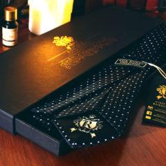 Hodvábna Kravata, Pure Luxury Collection, Diamantová, Čierna