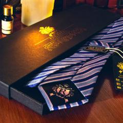Hodvábna Kravata, Pure Luxury Collection, Pásikavá, Modro Ružová
