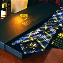 Hodvábna Kravata, Pure Luxury Collection, Kockovaná, Modro Žltá