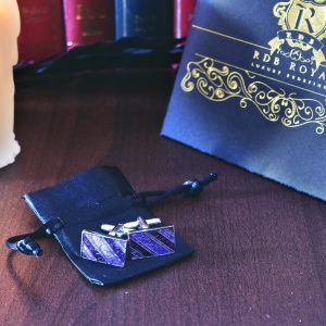 Manžetové gombíky RDB Royal luxusnej fialovej farby RDB Royal.