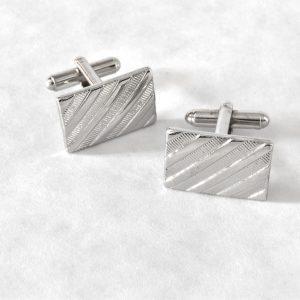 Strieborné manžetové gombíky z chirugickej ocele RDB Royal