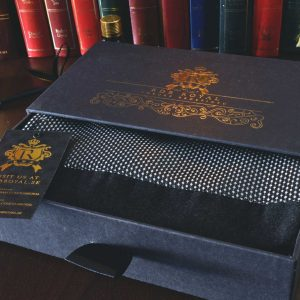 pánsky elegantný formálny hodvábny strieborný šál do obleku
