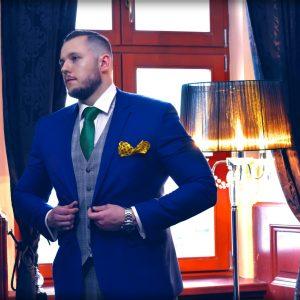 Britský zeleno žltý pánsky elegantný darčekový set pre pánov na svadby, plesy alebo spoločenské udalosti