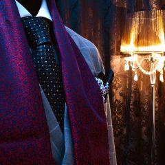 elegantný pánsky hodvábny set grand royal vreckovka hodvabny sal kravata pure luxury