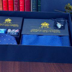 hodvábny pánsky luxusný darčekový set grand royal