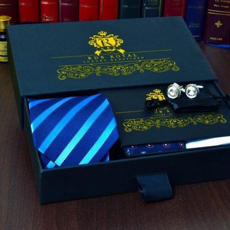 Luxusný pánsky darčekový set Swarovski s vreckovkou do saka