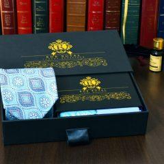 modrý darčekový pánsky luxusný set