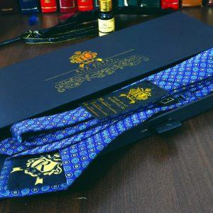 modrá hodvábna kravata foulard luxusná Pure Luxury Collection