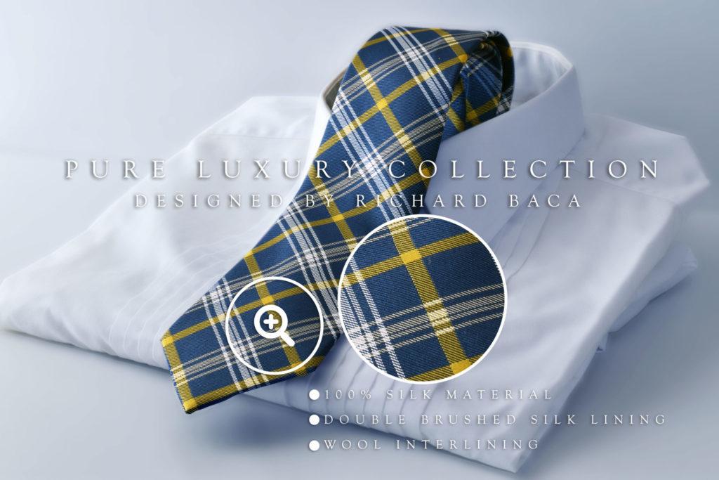 Luxusne hodvabne kravaty navrhnuté návrhárom Richardom Bačom